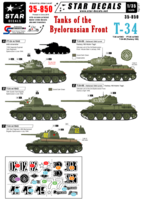 Byelorussian Front. T-34 m/43, PT-34 m/43 and T-34-85. - Image 1