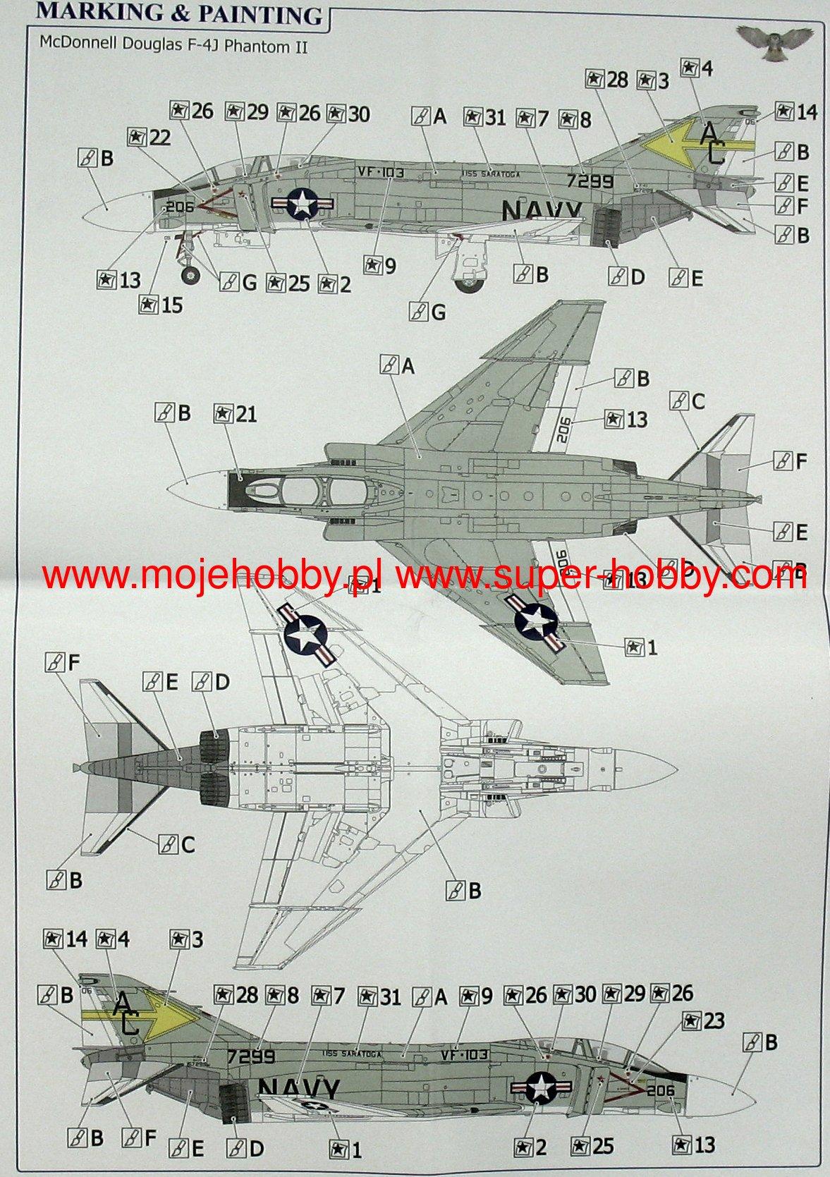 SOVA-M Models 1//144 MCDONNELL DOUGLAS F-4F PHANTOM II Jet Fighter
