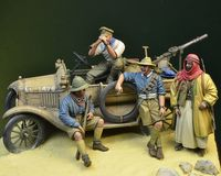 WWI Anzac LCP Ford T Crew 4 figures + Ford T accessories Palestine 1917 (car not included)