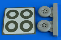 Spitfire Mk.IX wheels (5-spoke) & paint masks TAMIYA