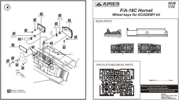 Aires 2038 F//A-18C Hornet Wheel bays ACA kit