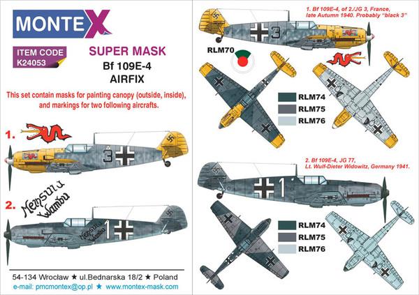 and E-7 Paint Mask Set Airfix Model Maker 1//48 MESSERSCHMITT Bf-109E-1 E-3 E-4