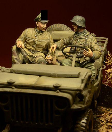 Ardennes 1944 Waffen SS passager Jeep 35029,1:35 1 figure D-day miniature