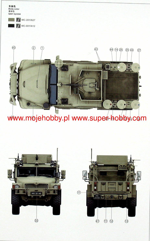 Meng Model VS-009 1//35 British Army Husky TSV Tactical Support Vehicle