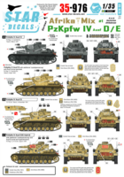 Afrika Mix 1. PzKpfw IV Ausf D, D/E and E