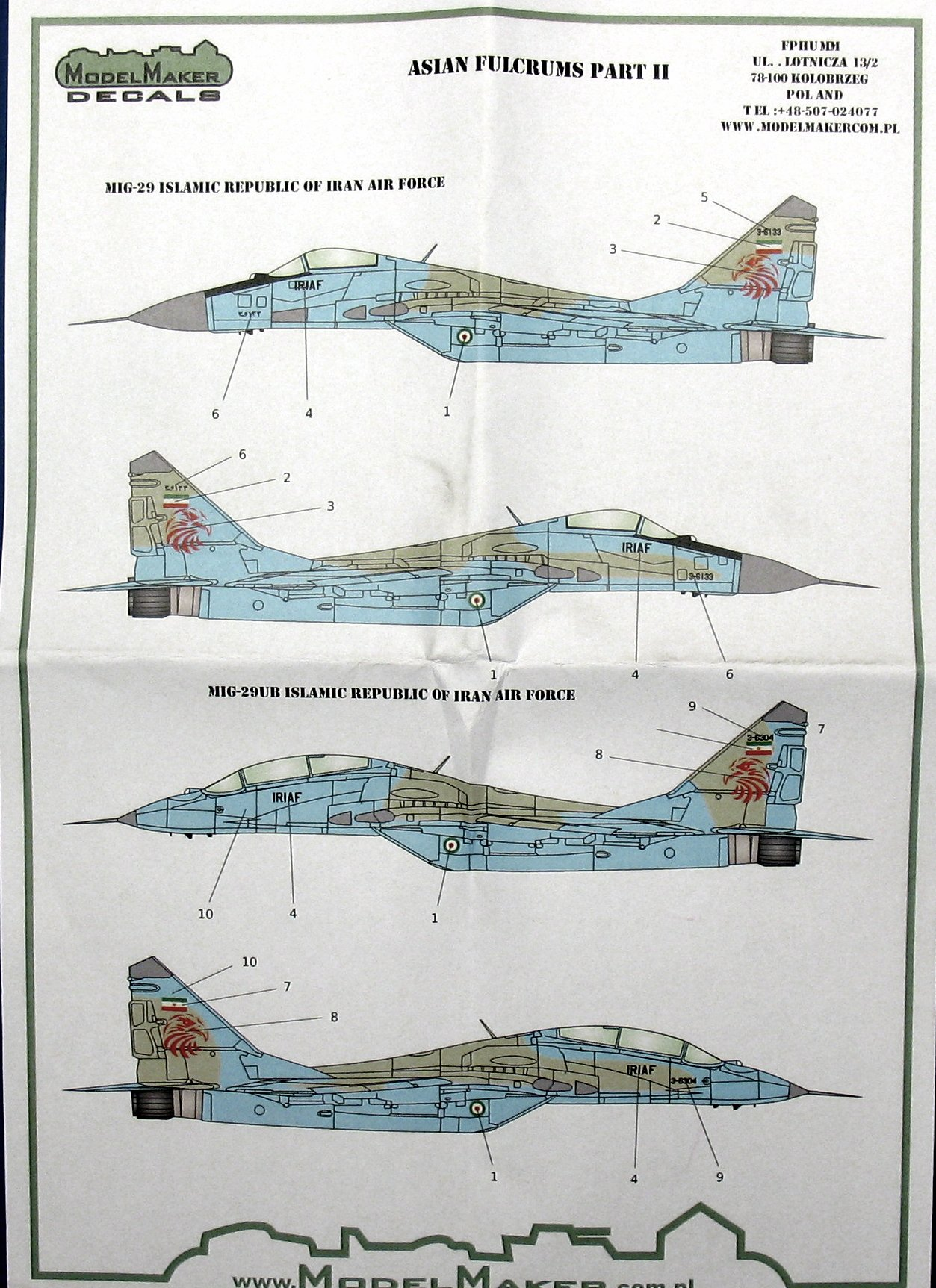 Model Maker Decals 1//72 MiG-29 FULCRUM ASIAN AIR FORCES Part 2