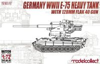 Germany WWII E-75 Heavy Tank with 128mm Flak 40 Gun - Image 1