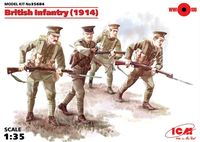 British Infantry (1914), (4 figures)
