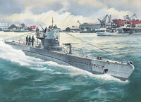 German Submarine U-Boat Type IIB (1943)