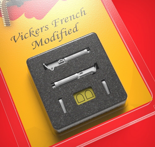 1//48 scale 2 items Details about  /Vickers French Modified GasPatch Models 13-48038