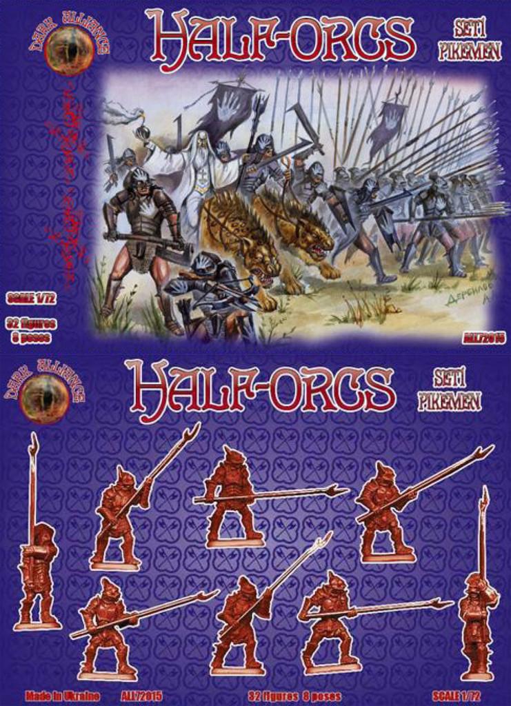 set 1 Alliance 72015-1:72 Half-Orcs pikemen Neu