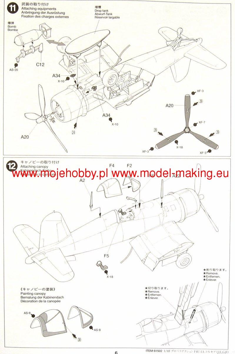 Vought F4u 1a Corsair Tamiya 61502 Engine Diagram 2 Tam61502 5