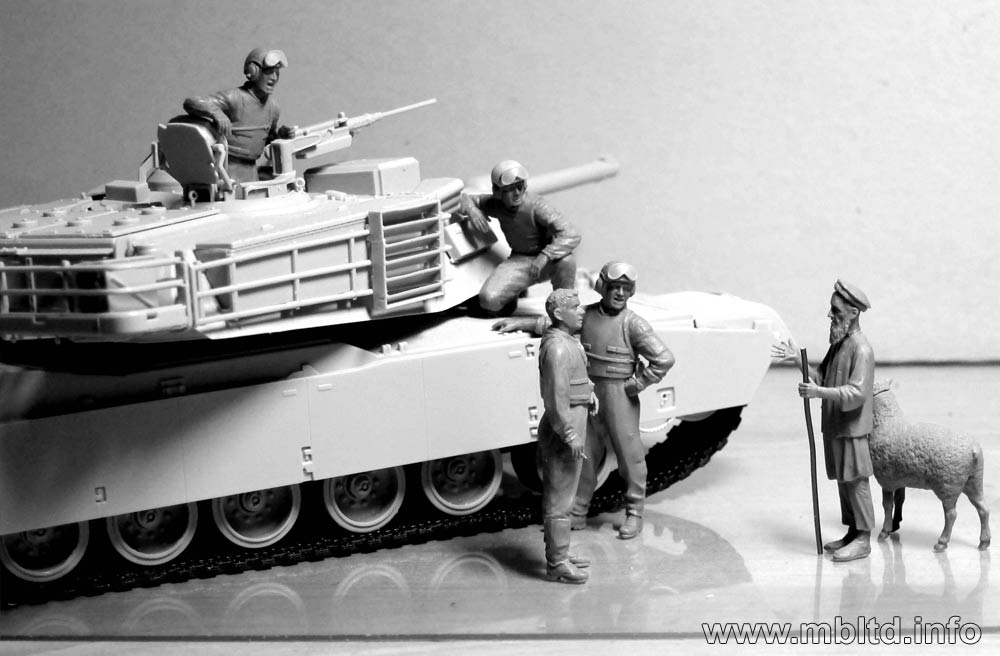 Master Box 35131 Modern U.S tankmen in Afghanistan Plastic Model Kit 1//35