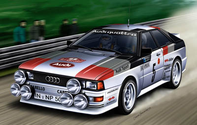 audi quattro rally revell 07246. Black Bedroom Furniture Sets. Home Design Ideas