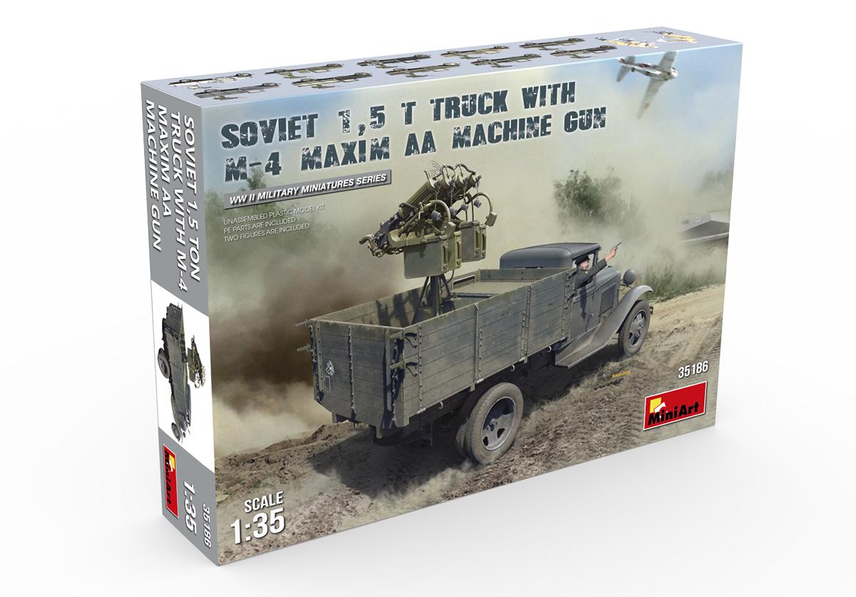Soviet 1 5 T Truck with M-4 Maxim AA Machine GUN
