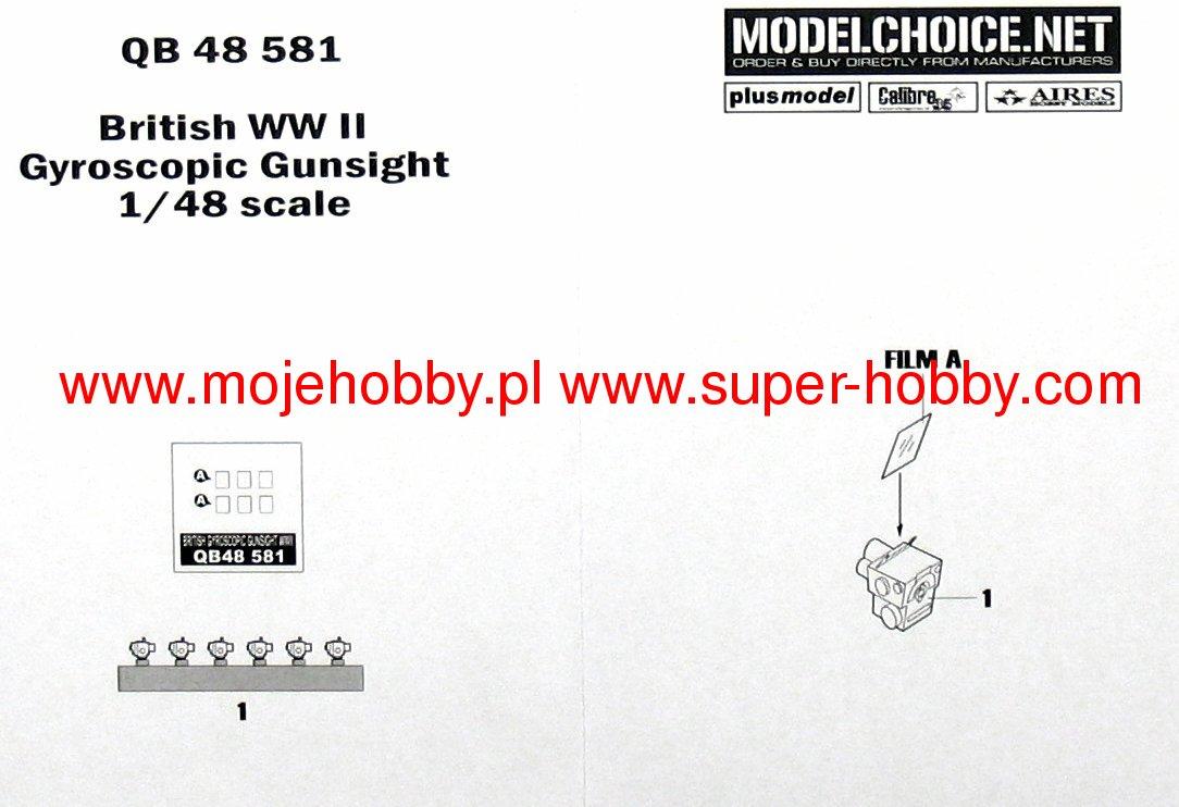 QUICKBOOST 1//48 WWII British Gyroscopic Gunsight  QUB48581