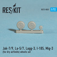 Jak-7/9, La-5/7, Lagg-3, I-185, Mig-3  (for dry airfields) wheels set - Image 1